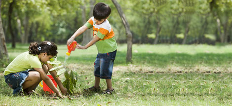 Let your children grow on earth
